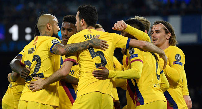 Griezmann Rescues Barcelona First Leg Draw At Napoli