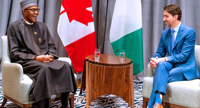 Buhari Holds Bilateral Meeting With Canadian Prime Minister Justin Trudeau In Addis Ababa