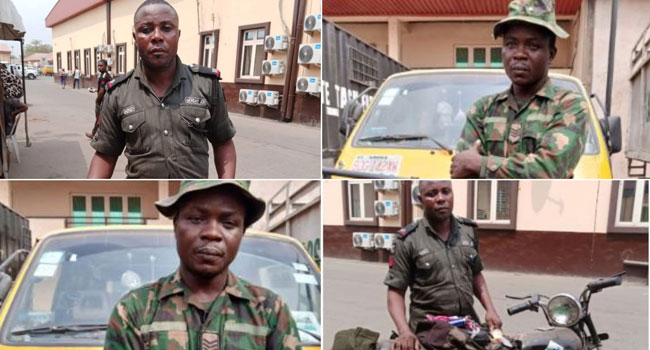 Lagos Ban On Motorcycles And Tricycles: Task Force Nabs 2 Fake Uniform Operatives