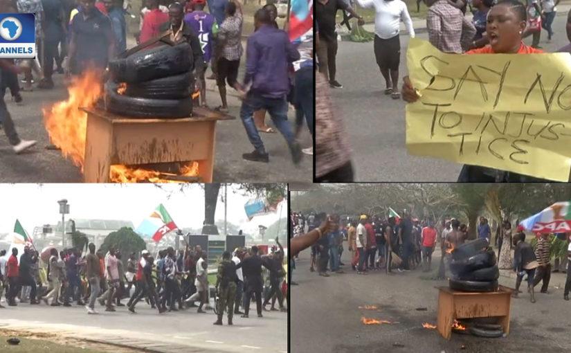 'No Lyon, No Bayelsa,' APC Members Protest At Government House