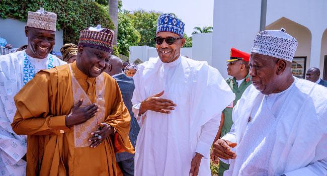 Ganduje, Doguwa, Kano Leaders Visit Buhari