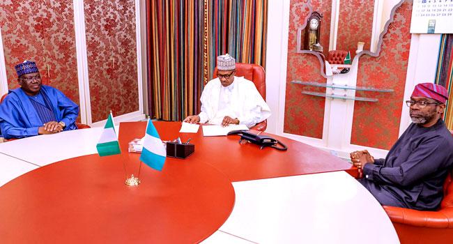 Buhari, Lawan, Gbajabiamila Discuss Nigeria's Security