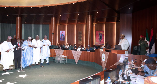 Buhari Inaugurates New Members Of NASS Service Commission