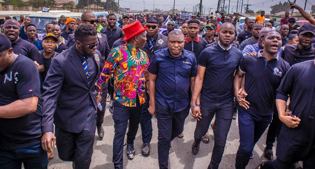 VIDEO: Singer Charlie Boy Leads Protest Against Imo Supreme Court Judgement