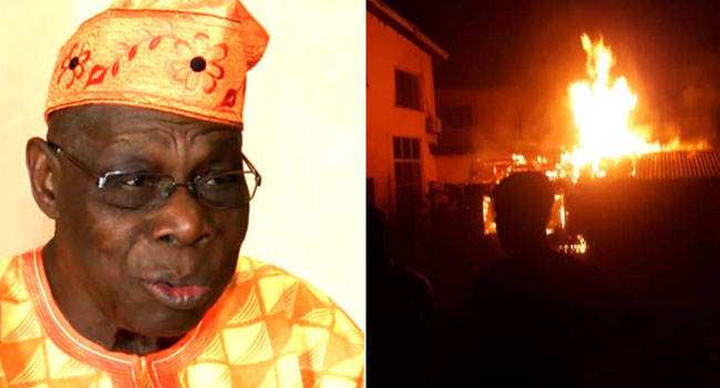 Fire Guts Obasanjo's House In Abeokuta