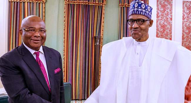 Hope Uzodinma Visits Buhari, Seeks Refund Of N32bn To Imo - Channels Television