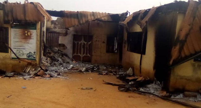 Thugs Set INEC Office In Imo On Fire After Supplementary Elections