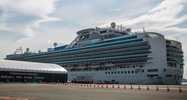 Coronavirus: Cruise ship Diamond Princess locked down at Yokohama Habour