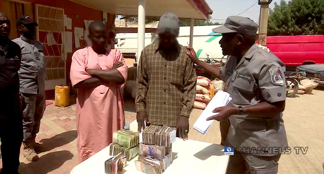 Customs Arrest Two Suspects In Possession Of 42.9m CFA Franc In Katsina
