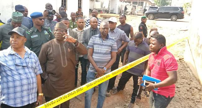 Explosion Rocks Ado-Ekiti, Fayemi Visits Scene