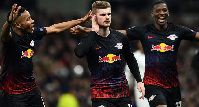 RB Leipzig Beat Tottenham In Champions League Last 16 First Leg