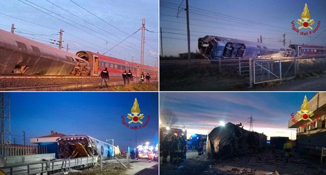Two Dead As Train Derails Near Milan