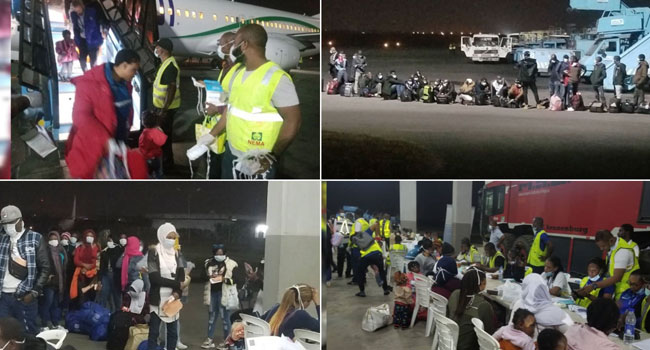 PHOTOS: New Batch Of 161 Nigerians Return From Libya