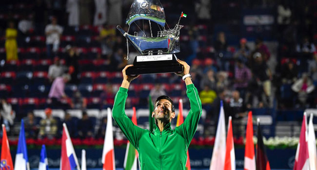 Djokovic Beats Tsitsipas In Dubai To Win 79th Career Title
