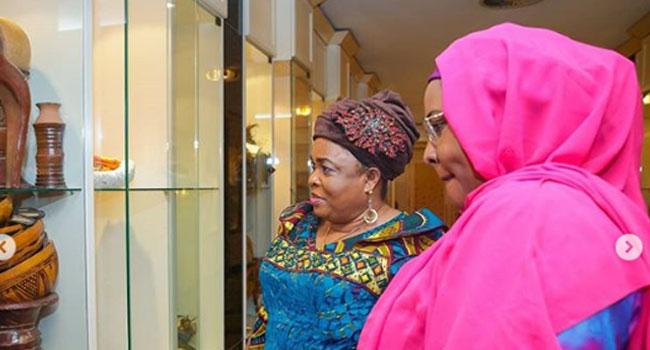 Aisha Buhari Hosts Patience Jonathan At Presidential Villa