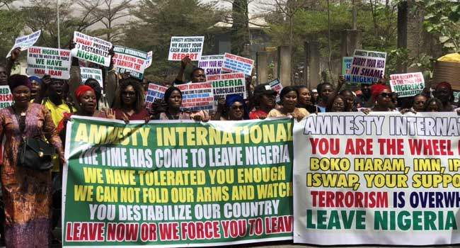 Protesters Storm Amnesty International Office, Ask Them To Leave Nigeria