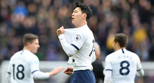 Son's Brace Seal Win For Tottenham Against Aston Villa