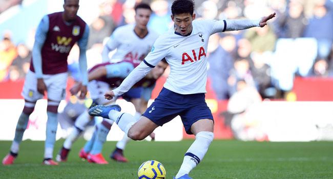 Son's Brace Seal Win For Tottenham Against Aston Villa