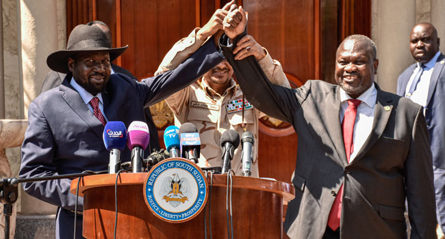 S.Sudan Rebel Leader Machar Sworn In As Vice President
