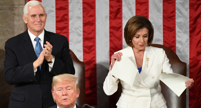 Divided House Saga: Cheers, Jeers And Ripped Trump Speech