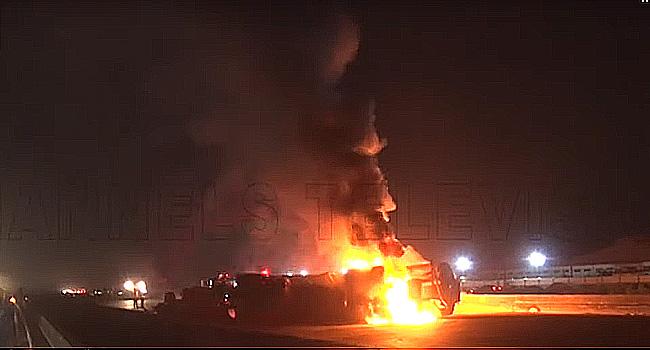 Tanker Explosion Causes Gridlock On Lagos-Ibadan Expressway