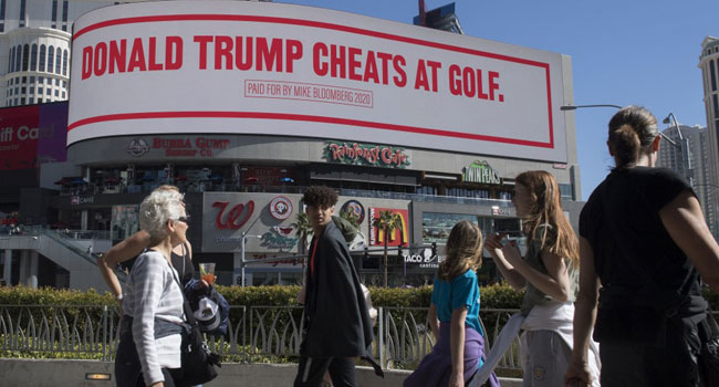 Trump 'Cheats At Golf': Bloomberg Mocks President With Billboard