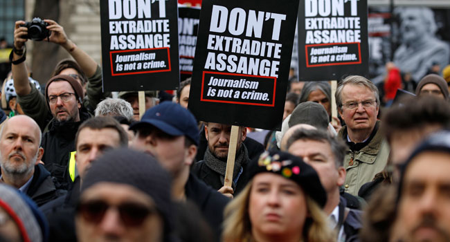 Protesters Rally For Assange Ahead Of Extradition Hearing In UK