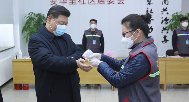Coronavirus: China President Xi Asks For Protection Of Medical Workers