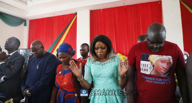PHOTOS: Christians Hold Service In Abuja, Pray For Leah Sharibu