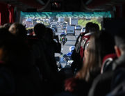 Police escort a bus transporting French citizens after leaving The Vacanciel Holiday Resort in Carry-le-Rouet, near Marseille, southern France on early February 14, 2020, where they spent 14 days in quarantine after their repatriation from Wuhan, China, from where the novel coronavirus has spread. HECTOR RETAMAL / AFP