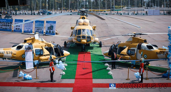 Buhari Launches Three Combat Helicopters In Abuja