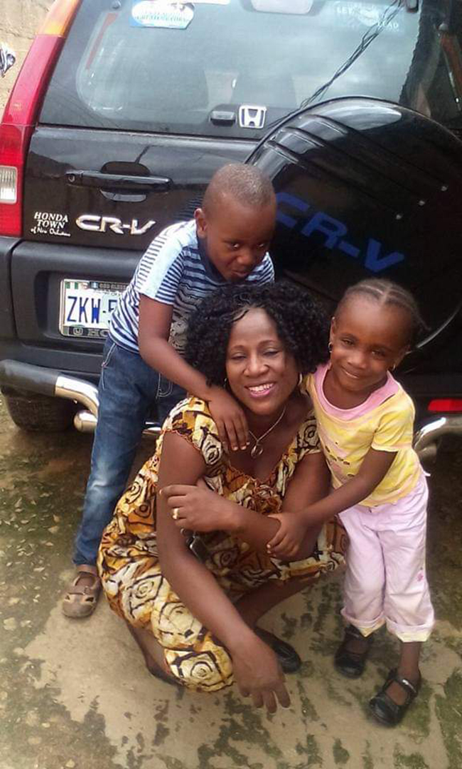 Late Mrs. Philip Ataga and her two abducted children.