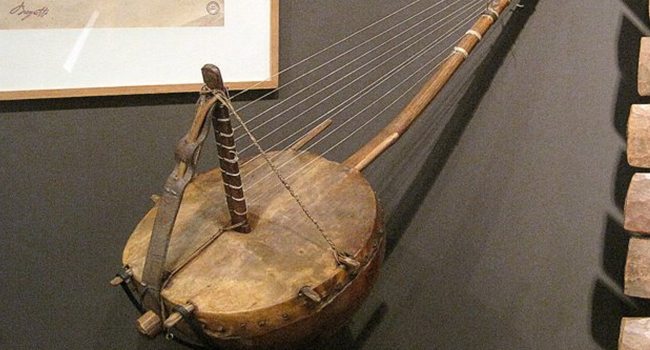 The kora is a 21-string lute-bridge-harp used extensively in West Africa.