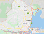 A map of Lagos used to illustrate the story.
