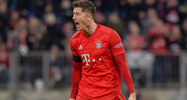 Lewandowski Double Edges Bayern Past Bottom Side Paderborn