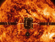 This file handout illustration image provided by NASA and obtained February 3, 2020 shows the Solar Orbiter. Handout / NASA / AFP