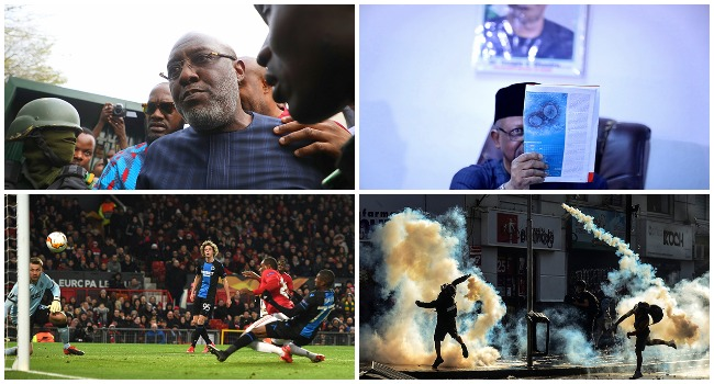 The Week In Photos: Metuh's Cross, COVID-19 In Lagos And Ighalo's Moment