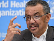 World Health Organization (WHO) Director-General Tedros Adhanom Ghebreyesus speaks during a press conference following a WHO Emergency committee to discuss whether the Coronavirus, the SARS-like virus, outbreak that began in China constitutes an international health emergency, on January 30, 2020 in Geneva. FABRICE COFFRINI / AFP