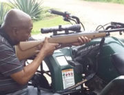 Jacob Zuma posted a photo of him shooting a rifle on Twitter after a court issued an arrest warrant for him