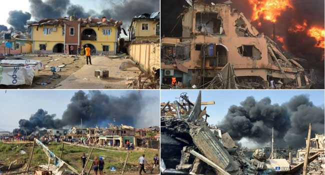 Abule Ado Explosion: Displaced Persons Relocate To Igando Relief Camp