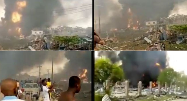 Houses Burnt, Vehicles Damaged As Explosion Rocks Abule Ado In Amuwo Odofin