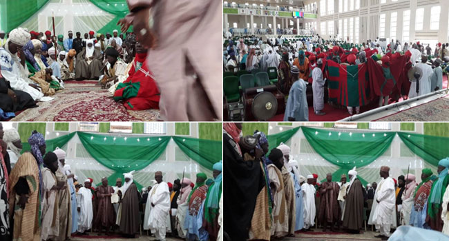 PHOTOS: Aminu Ado Bayero Receives Letter Of Appointment As New Emir Of Kano