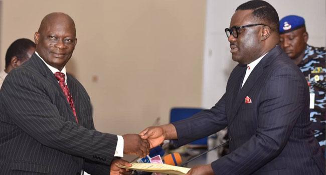 Ayade Swears In Eneji As Cross River Acting Chief Judge