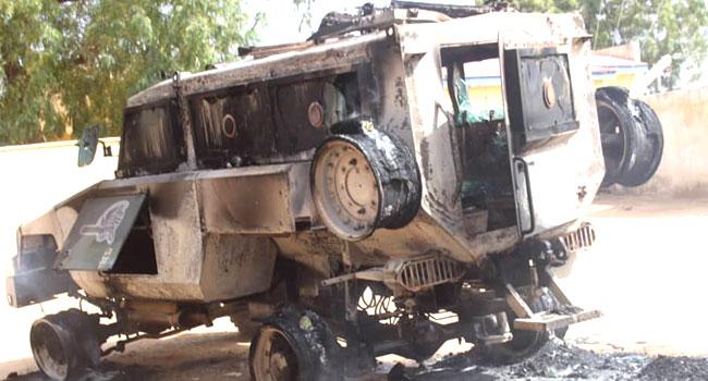 Dapchi Attack: Boko Haram Kills Eight Policemen, Burns Armoured Vehicle