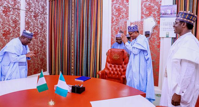 PHOTOS: Buhari Receives Senate President, Yobe Governor In Abuja