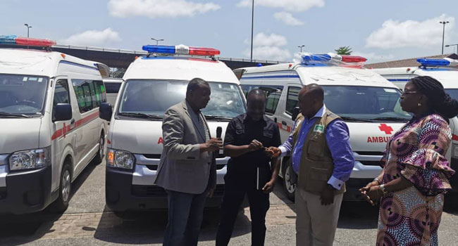 NCDC Receives Four Ambulances From Dangote To Tackle COVID-19