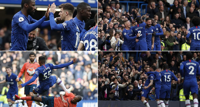Chelsea Crush Everton To Cement Top Four Place