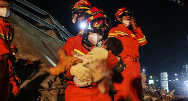 10 Killed As China Quarantine Hotel Collapse