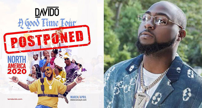 Davido Defers 'A Good Time' Tour Amid Coronavirus Outbreak
