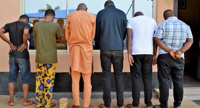 PHOTOS: EFCC Raids Suspected Fraudster's House, Recovers Coffin